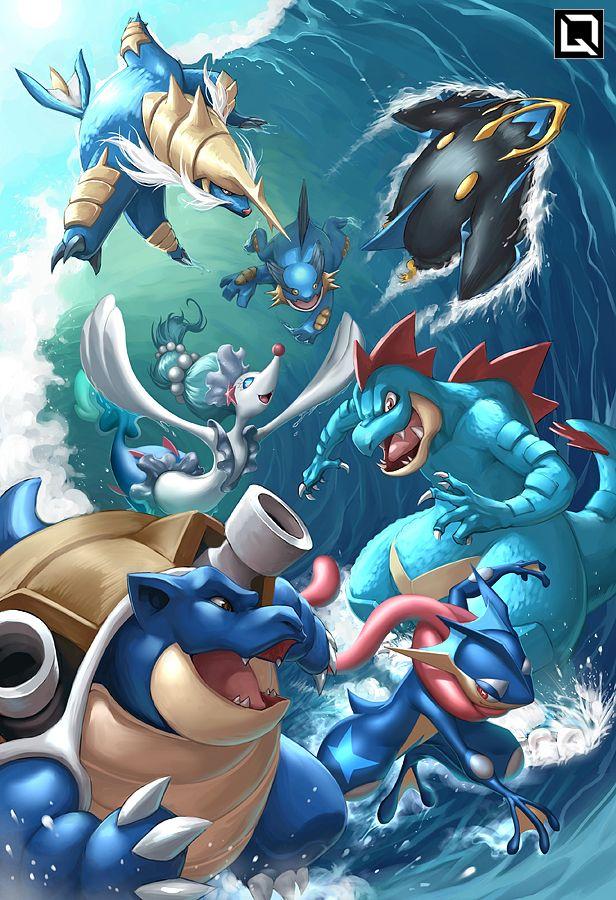 Pokemon Starters Wallpaper : pokemon, starters, wallpaper, Pokemon, Water, Starters, Wallpaper