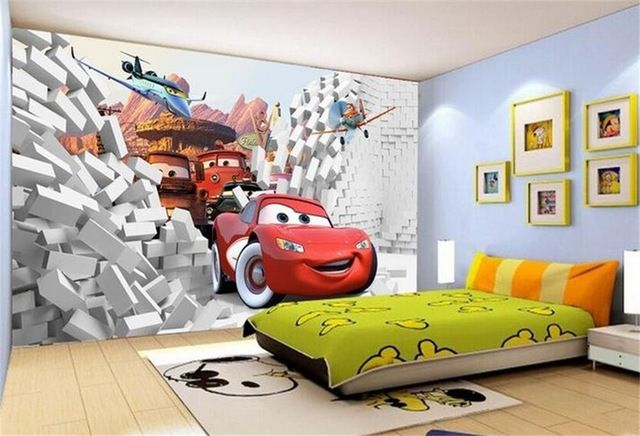 Are you decorating or renovating your child's bedroom? Childrens Car Wallpaper