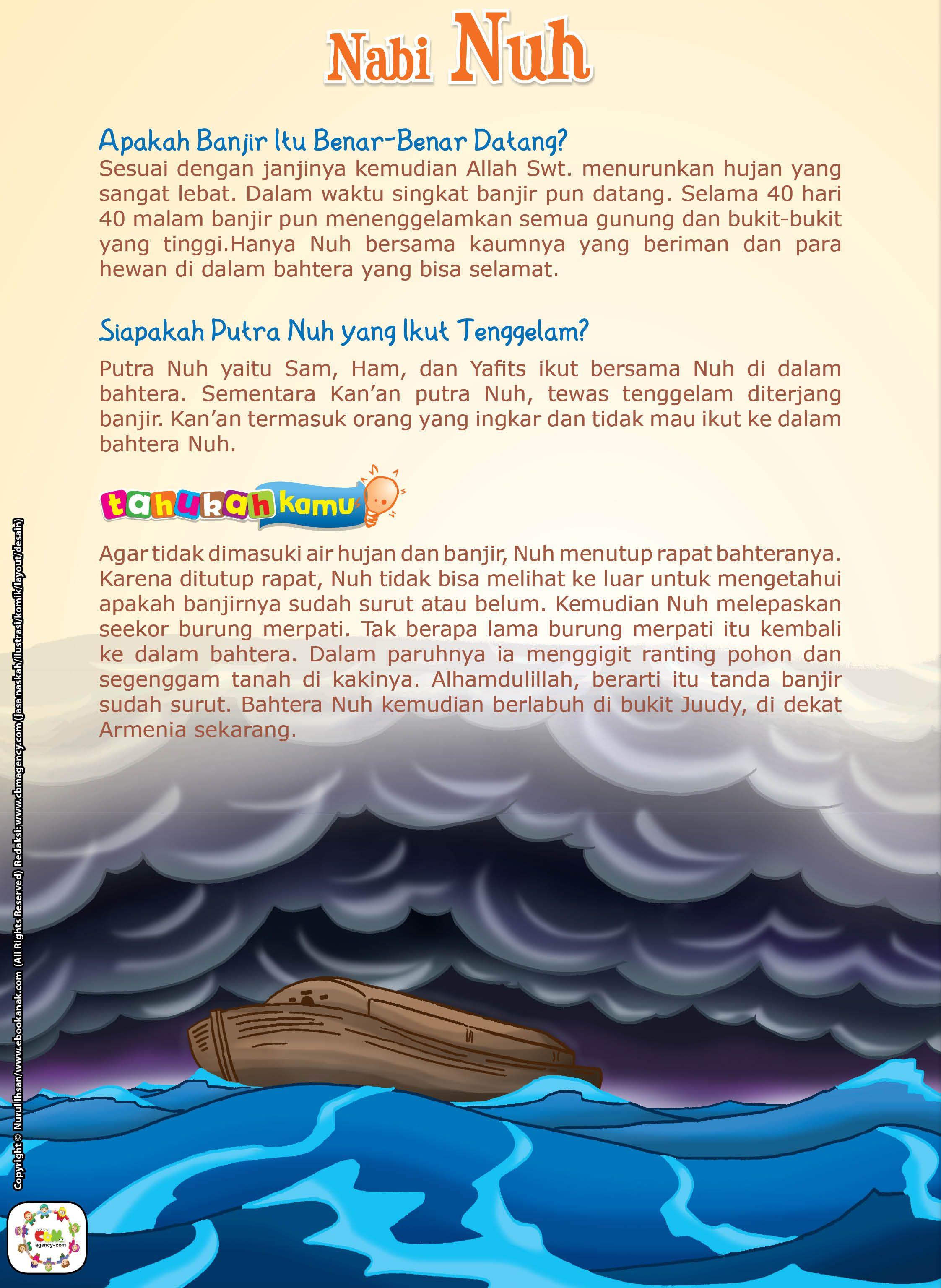 Kisah Nabi Nuh Lengkap : kisah, lengkap, Cerita