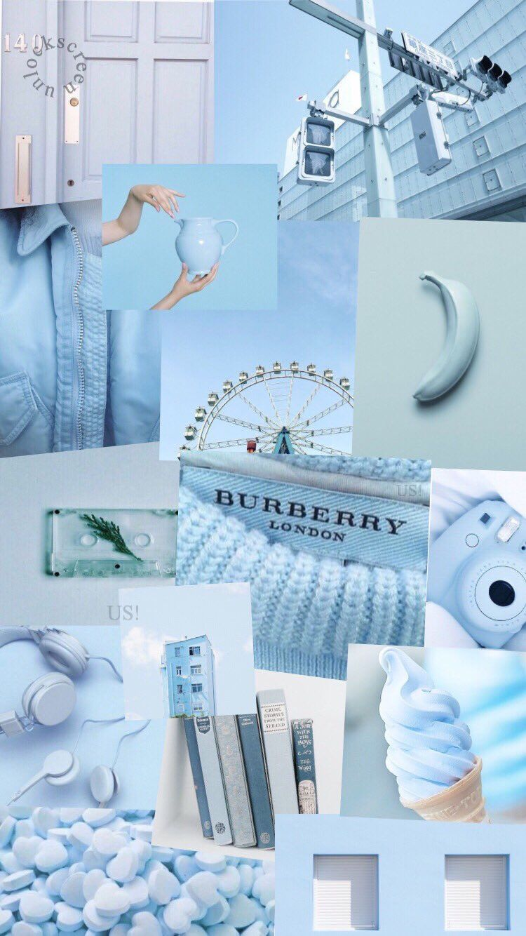 Blue Aesthetic Collage Wallpaper : aesthetic, collage, wallpaper, Iphone, Collage, Wallpaper