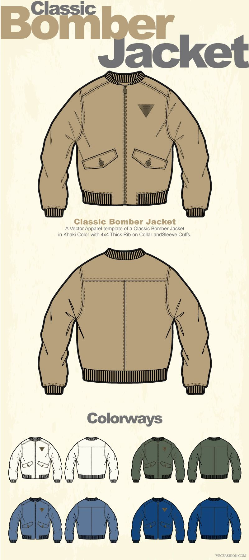 Desain Jaket Bomber Cdr : desain, jaket, bomber, Template, Jaket, Bomber, Vector