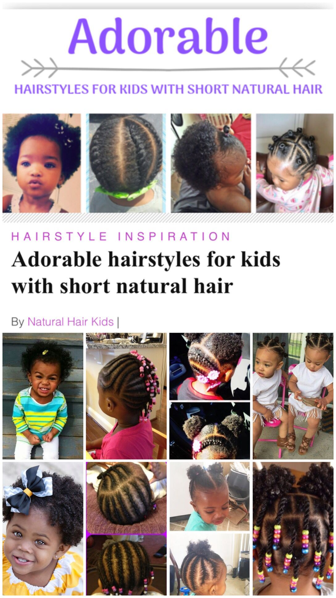 African American Cute Baby Girl Hairstyles For Short Hair Hair Style