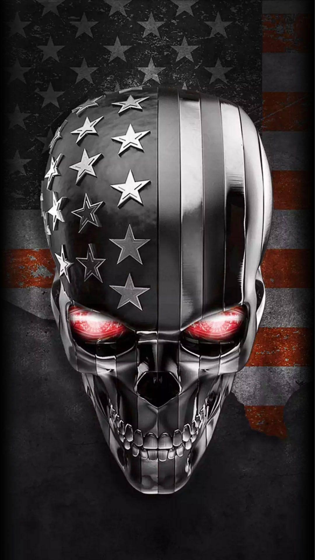 American Flag Skull Wallpaper : american, skull, wallpaper, Skull, Wallpaper