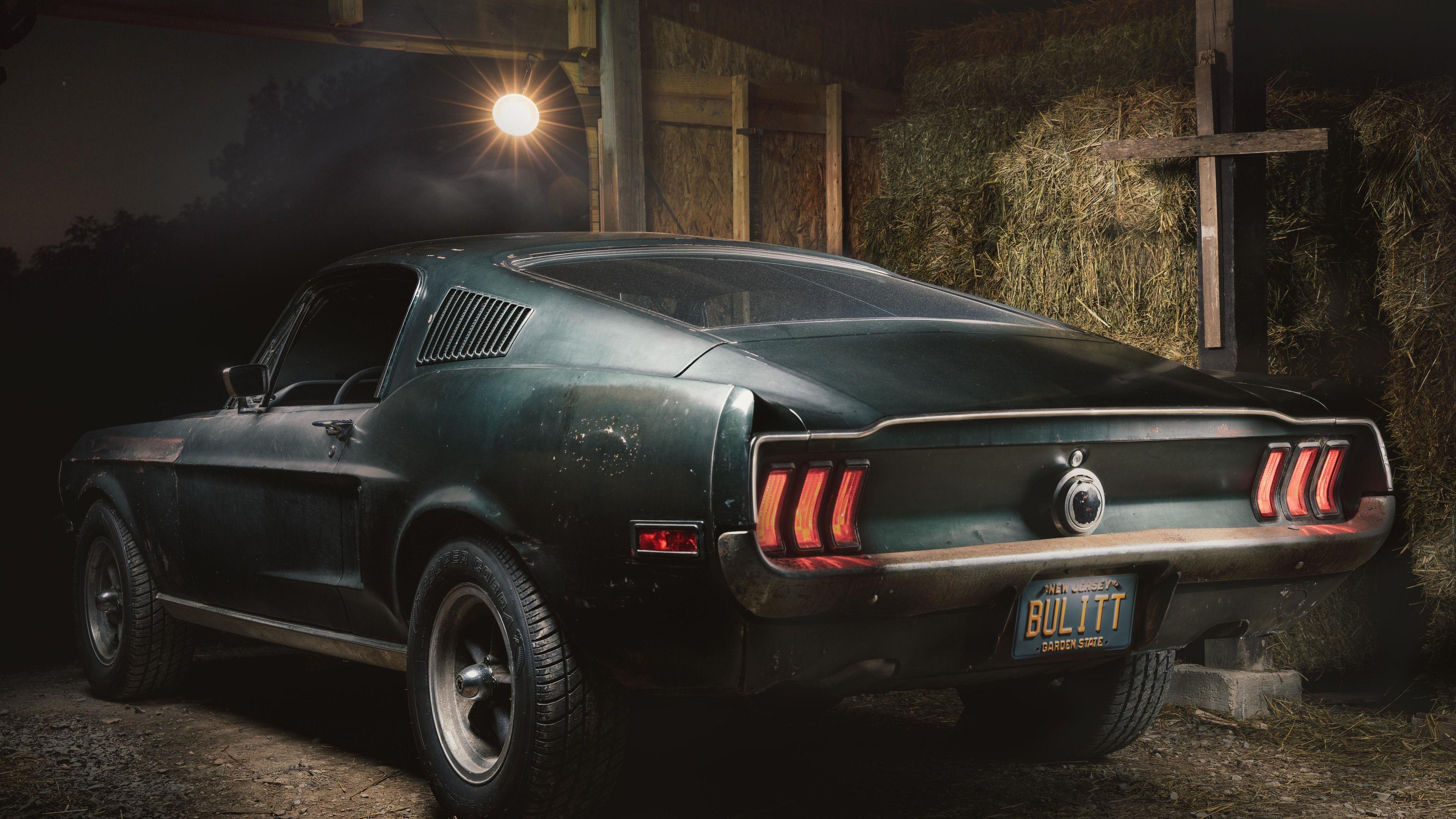 Download wallpaper 3840x2400 mustang, car, muscle car, black for pc & Muscle Car Wallpaper 4k