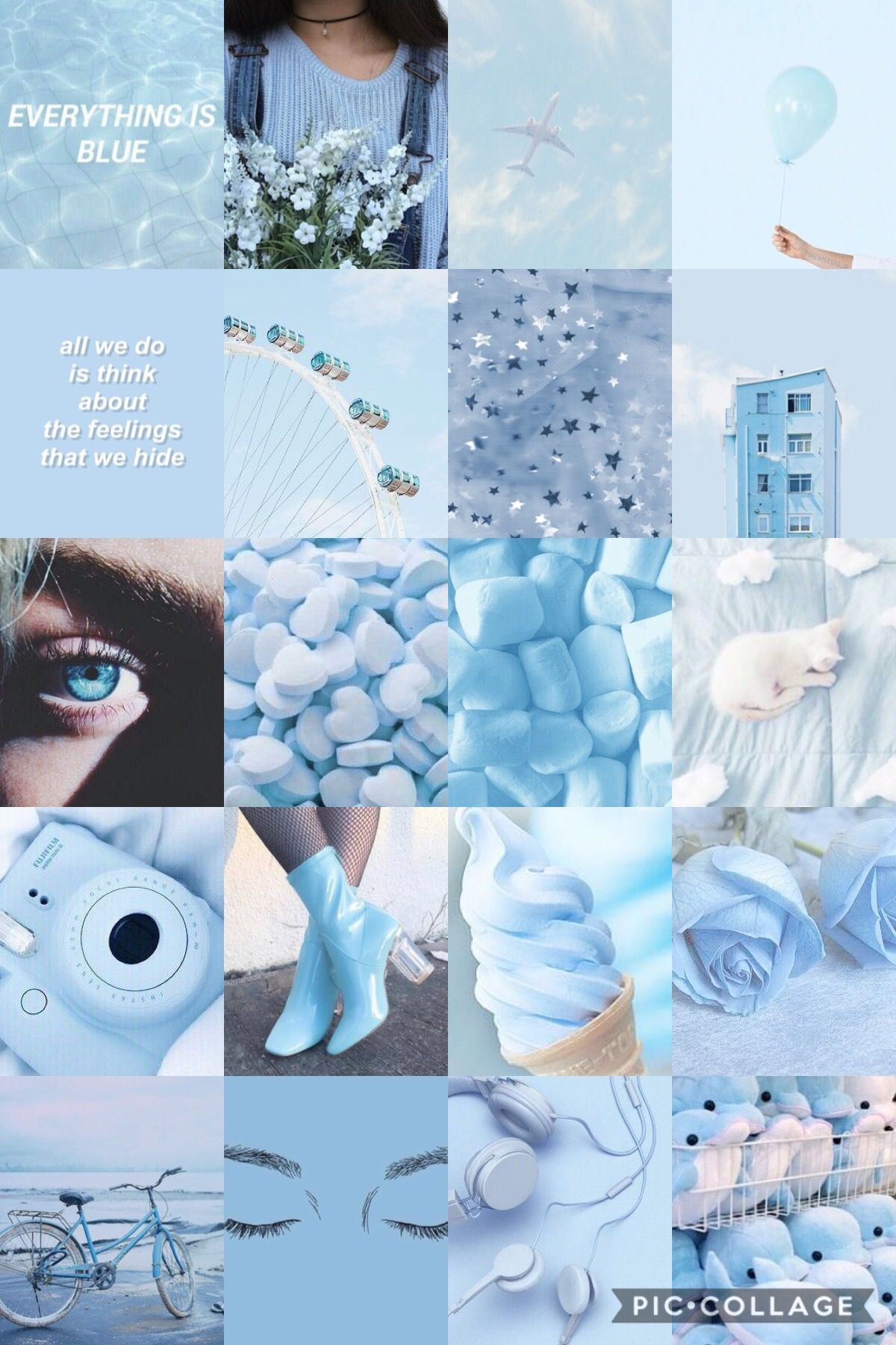 Blue Aesthetic Collage Wallpaper : aesthetic, collage, wallpaper, Aesthetic, Background, Collage, Wallpaper