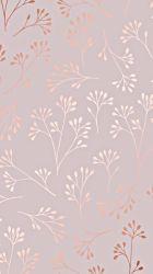 Rose Gold Pastel Floral Wallpaper