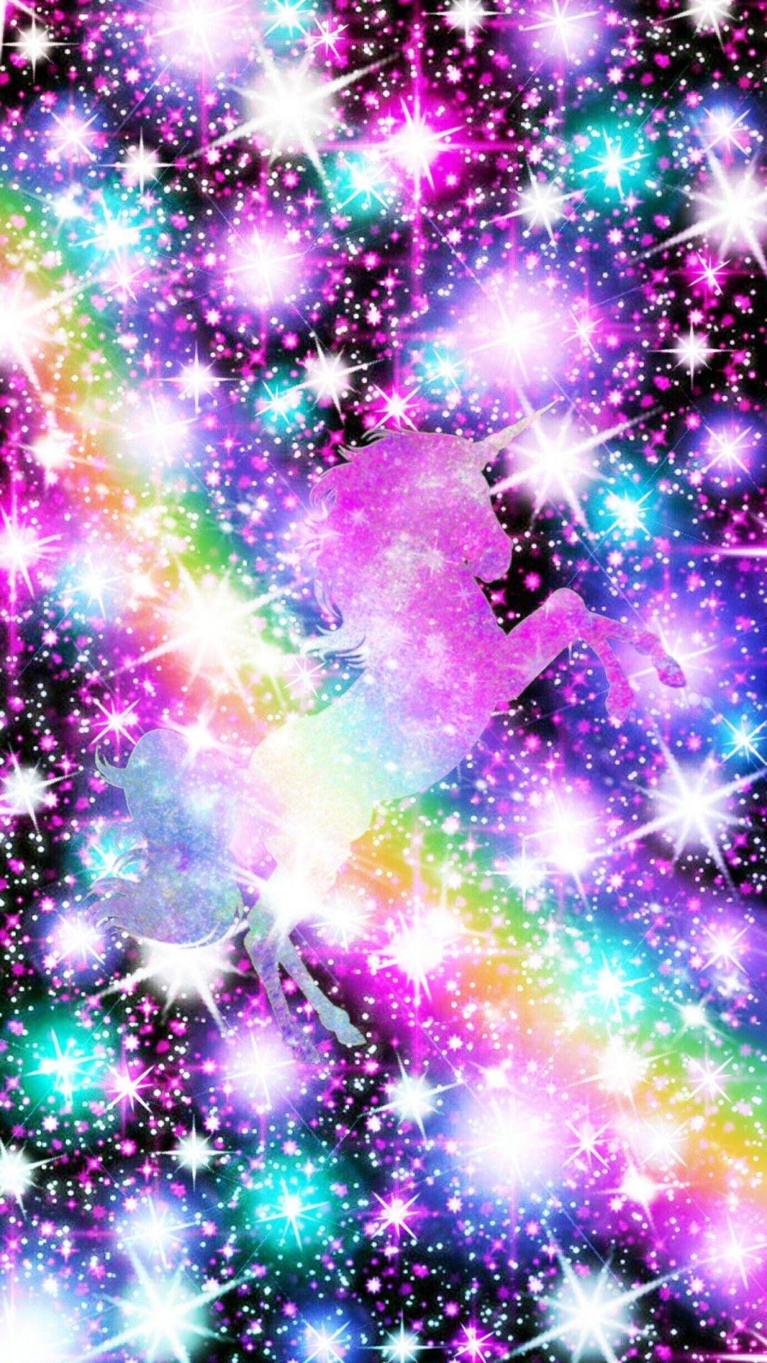 Galaxy Rainbow Glitter Wallpaper : galaxy, rainbow, glitter, wallpaper, Galaxy, Pastel, Glitter, Rainbow, Unicorn, Wallpaper