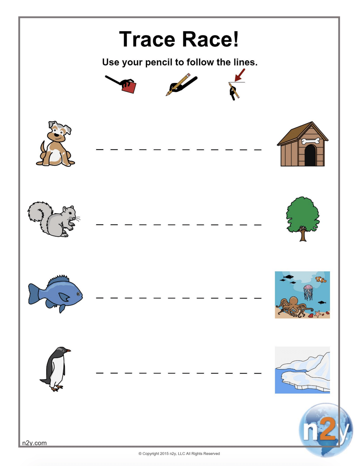Pre Writing Worksheets Horizontal Lines