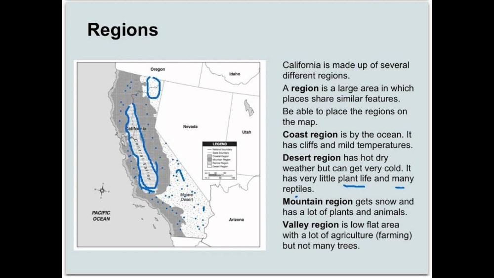medium resolution of California Regions 4th Grade