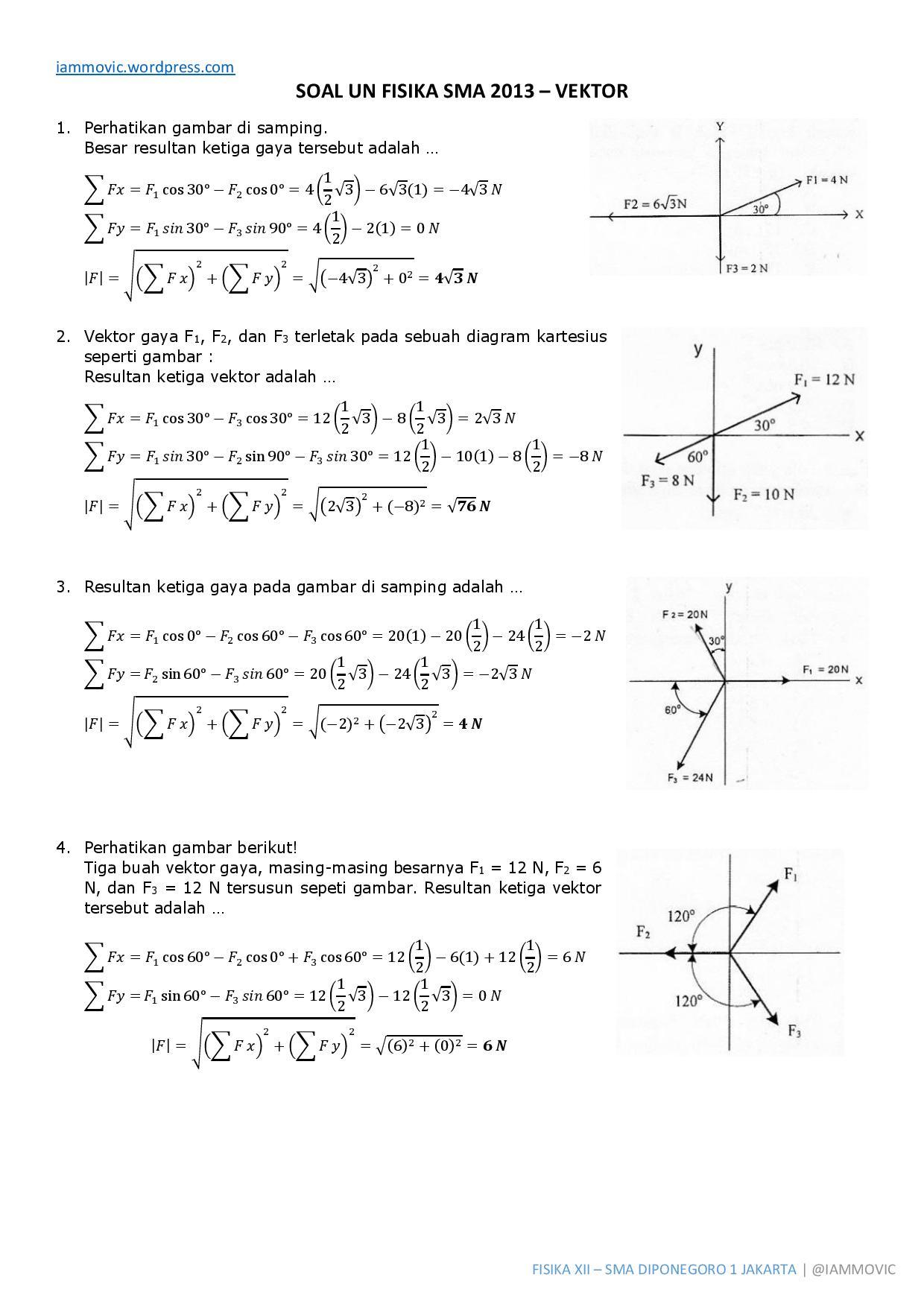 Contoh Soal Vektor Dan Pembahasannya : contoh, vektor, pembahasannya, Pembahasan, Fisika, Sbmptn, IlmuSosial.id