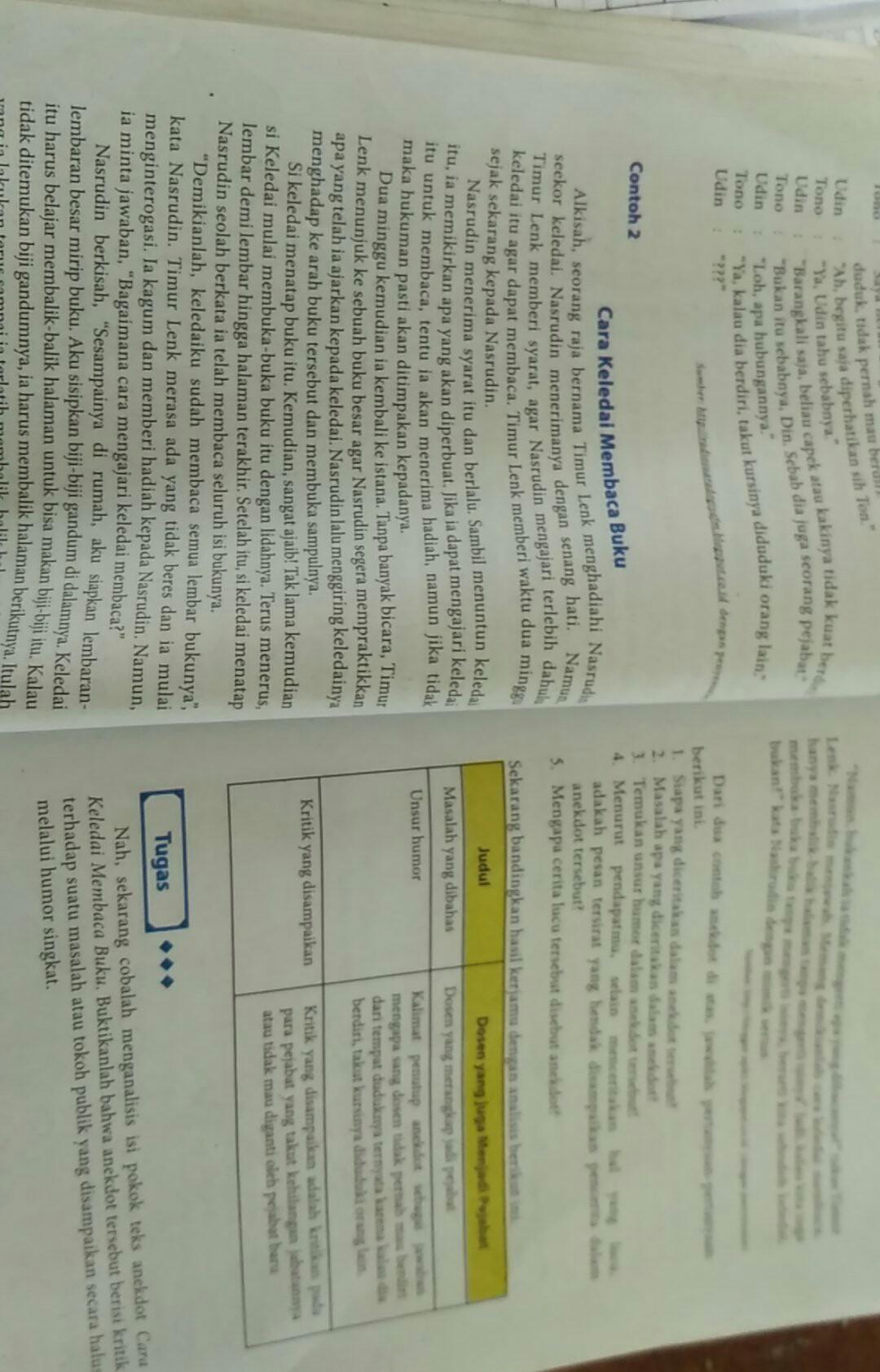 Struktur Teks Anekdot Cara Keledai Membaca Buku : struktur, anekdot, keledai, membaca, Contoh, Cerita, Anekdot, Keledai, Membaca