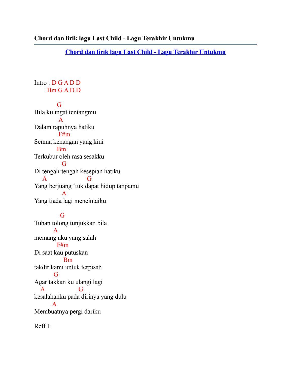 Chord Last Child Tak Pernah Ternilai : chord, child, pernah, ternilai, Chord, Terakhir, Child, Basgalanos