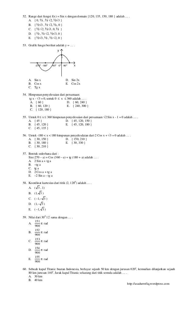Soal Matematika Wajib Kelas 10 Semester 2 Dan Jawabannya 2020 : matematika, wajib, kelas, semester, jawabannya, Matematika, Kelas, Semester, Sekali