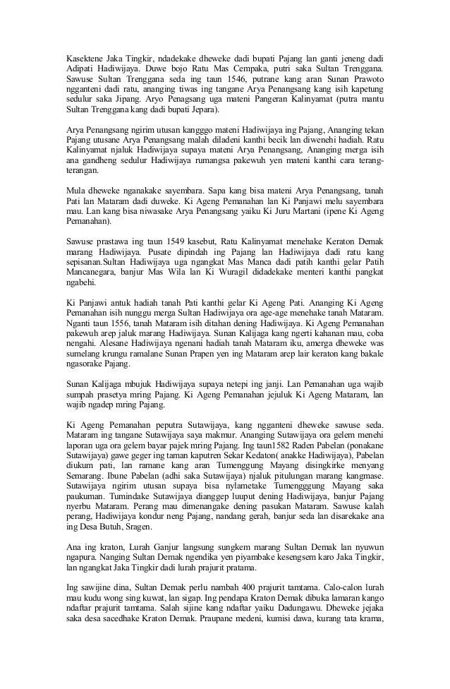 Contoh Cerita Rakyat Bahasa Jawa : contoh, cerita, rakyat, bahasa, Legenda, Timun, Bahasa