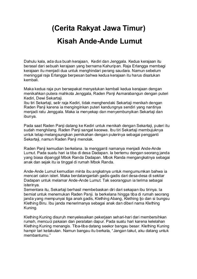 Cerita Rakyat Bahasa Jawa : cerita, rakyat, bahasa, Cerita, Rakyat, Bahasa, Singkat, Pendek