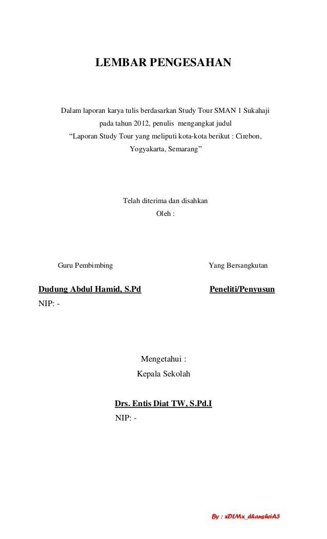 Karya Tulis Study Tour Bali : karya, tulis, study, Contoh, Laporan, Karya, Wisata, Belajar