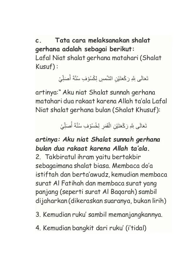 Niat Sholat Sunnah Gerhana Matahari : sholat, sunnah, gerhana, matahari, Shalat, Gerhana, Bulan, Latin