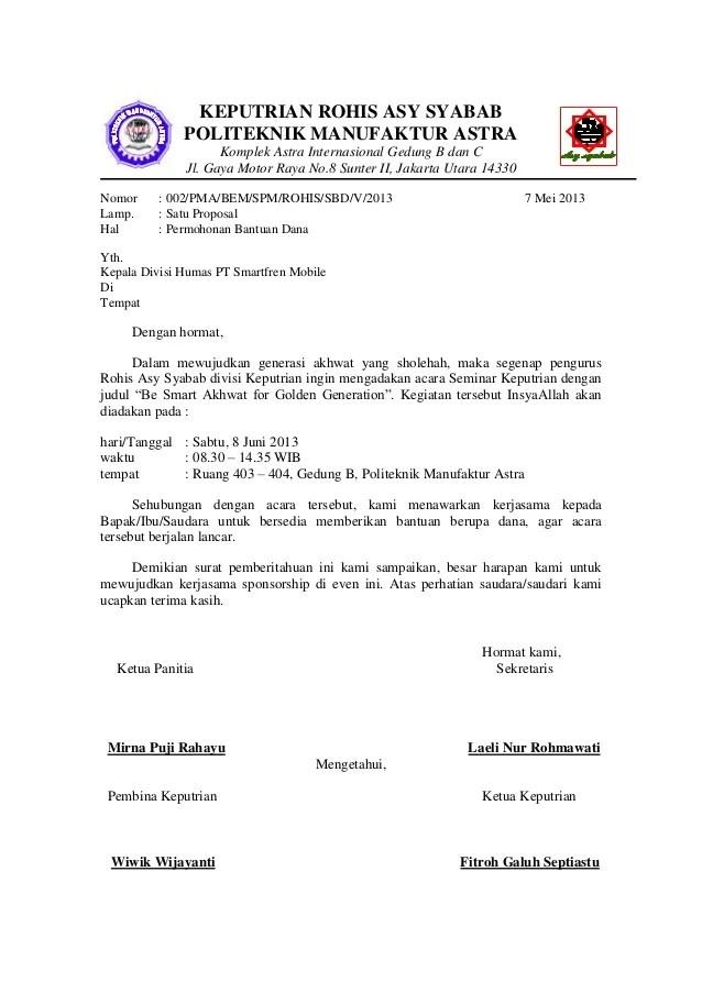 Surat Permohonan Sponsorship Doc : surat, permohonan, sponsorship, Contoh, Proposal, Sponsor, Event