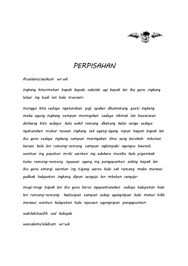 Sesorah Bahasa Jawa : sesorah, bahasa, Penutup, Sesorah, Bahasa, IlmuSosial.id