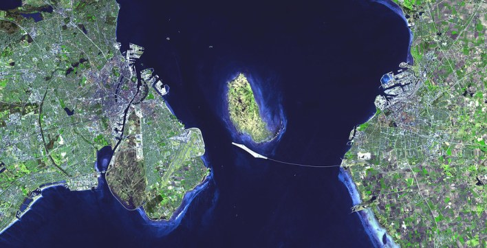 Released to Public: Oresund Bridge from Denmark to Sweden by Official Team (NASA)