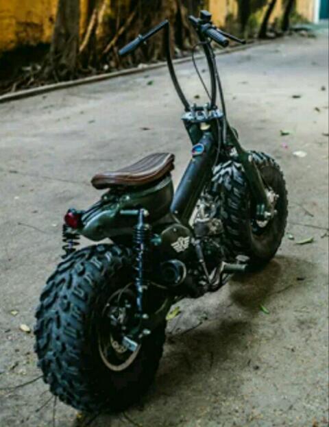Modifikasi Motor Bebek 4 Tak Menjadi Trail | Cahunit.com