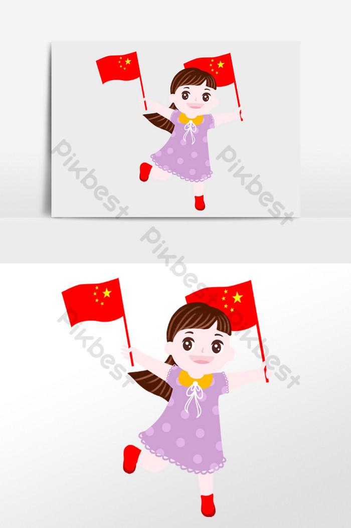 Gambar Upacara Bendera Kartun : gambar, upacara, bendera, kartun, Gambar, Orang, Kartun, Pegang, Bendera