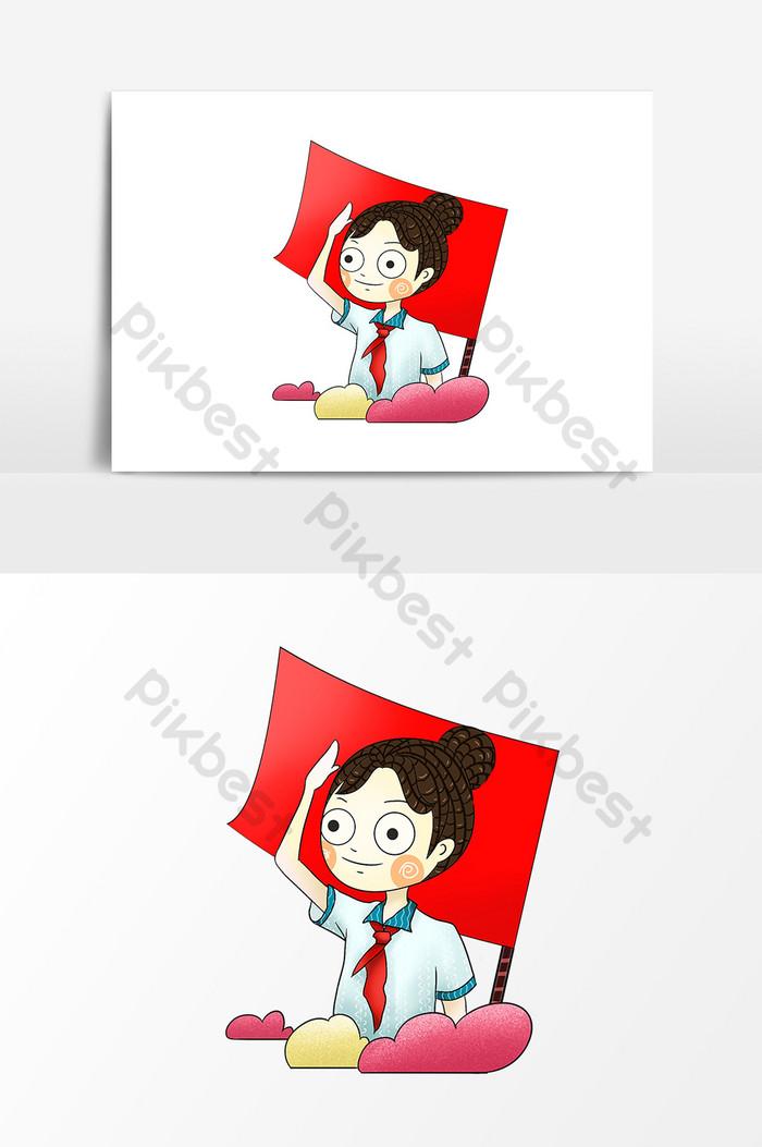 Gambar Upacara Bendera Kartun : gambar, upacara, bendera, kartun, Gambar, Kartun, Orang, Hormat, Bendera