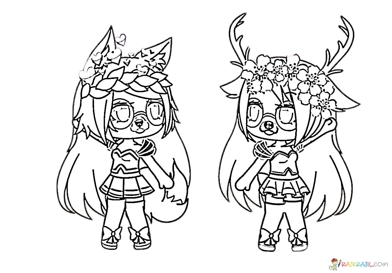 Gacha Life Coloring Pages Wolf Boy