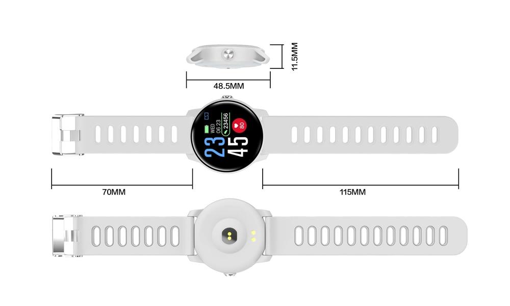 Men's Round IP68 Waterproof Fitness Smart Watch
