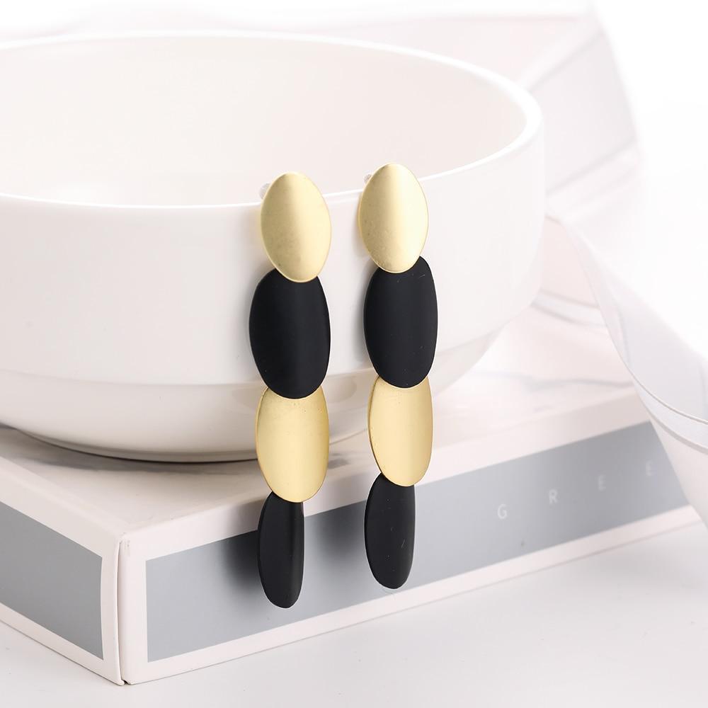 Women's Geometric Pattern Drop Earrings