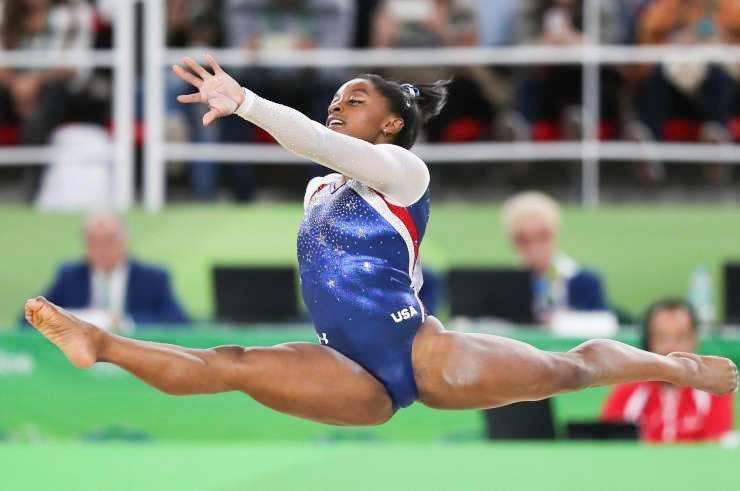 Ameriška gimnastična zvezdnica Simone Biles, ki je olimpijske igre v Tokiu končala z