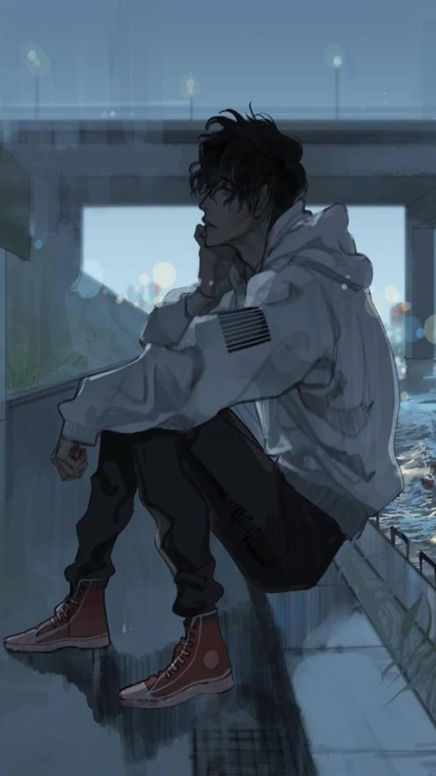 Depressed Anime Guy : depressed, anime, Depressed, Anime, Wallpaper