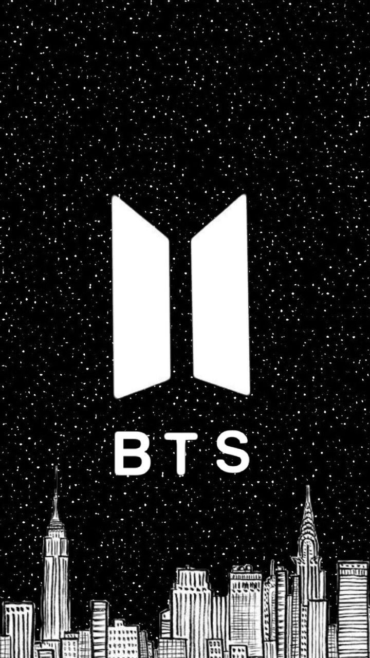 Bts Logo Black And White : black, white, Wallpaper, Black, White