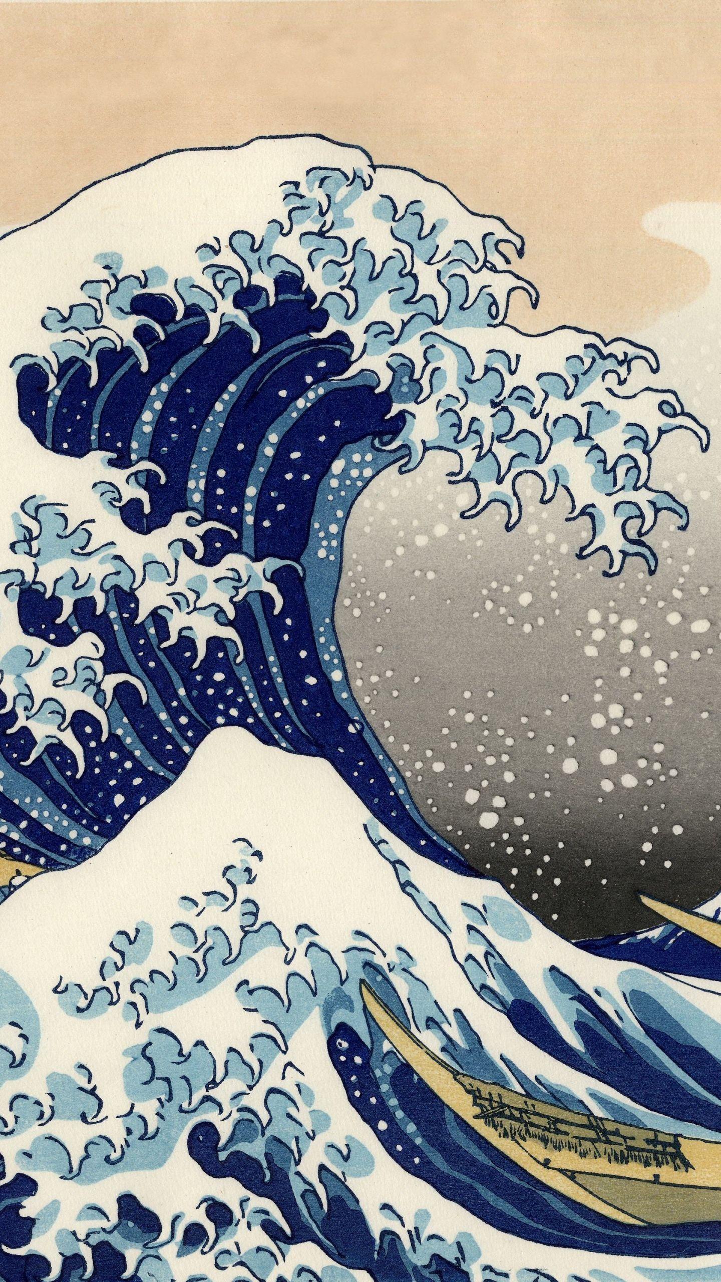 Aesthetic Wave Wallpaper : aesthetic, wallpaper, Iphone, Wallpaper, Japanese