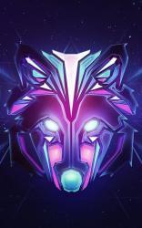 Galaxy Wolf Wallpaper Drawing