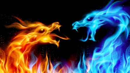 Blue Dragon Wallpaper Fire