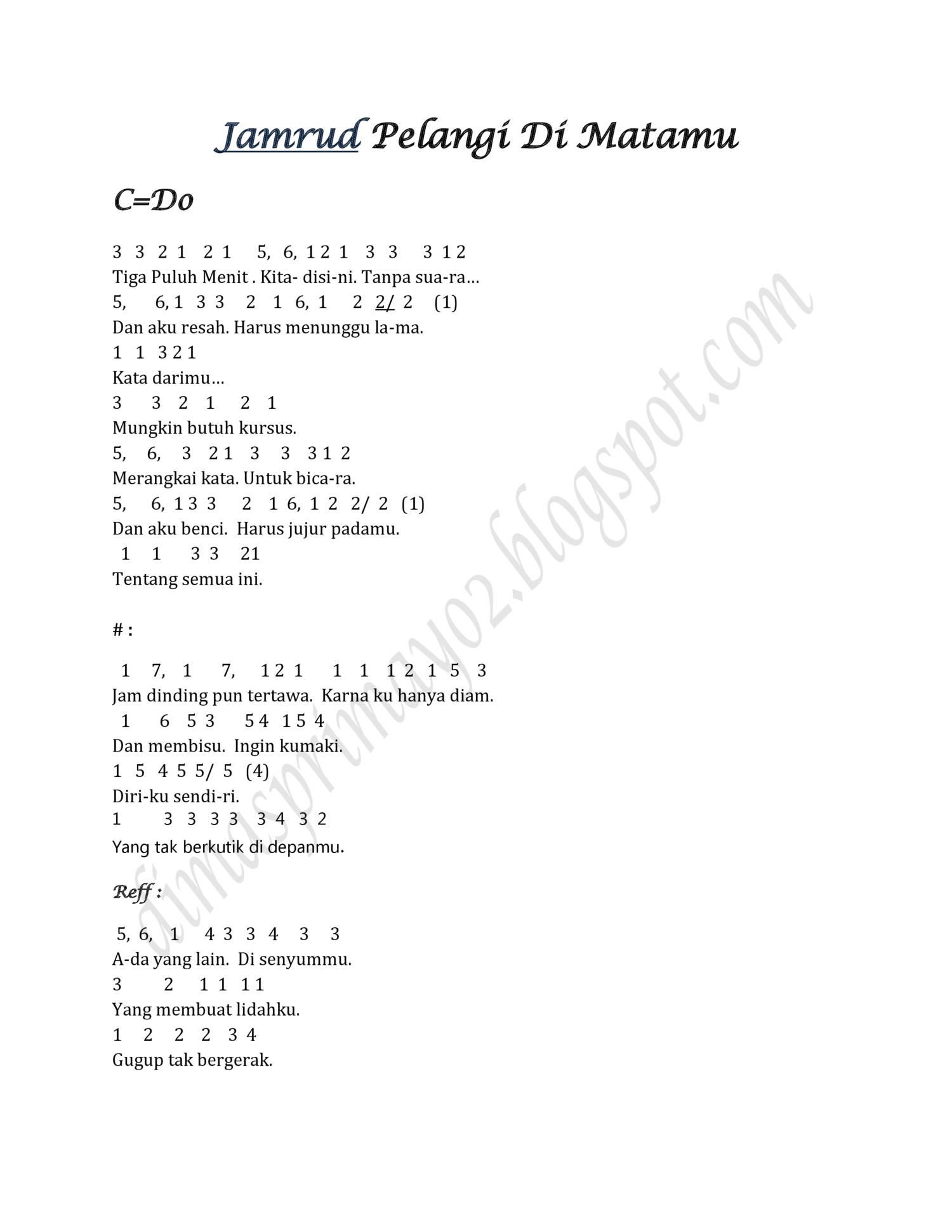 Chord Pelangi Dimatamu : chord, pelangi, dimatamu, Jamrud, Pelangi, Matamu, Chordtela