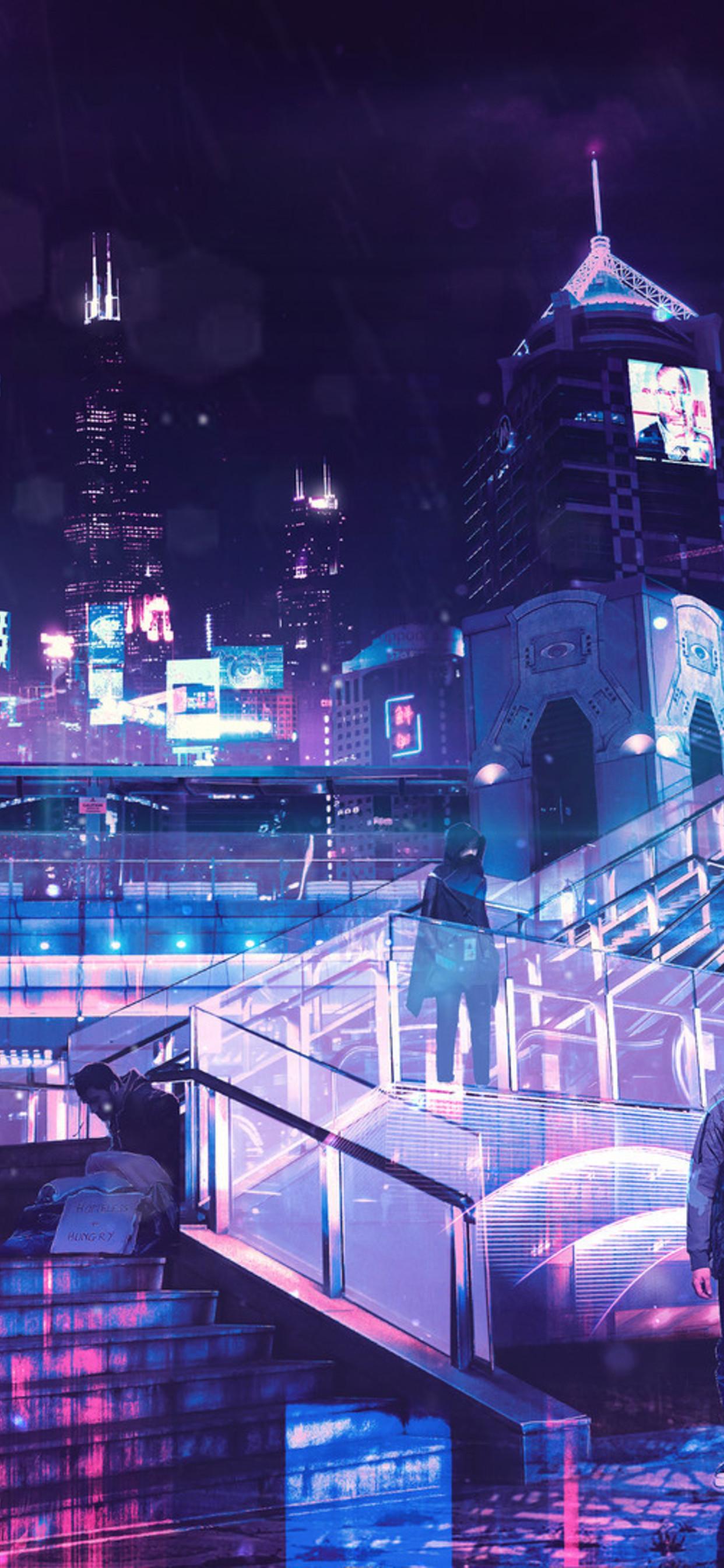 Neon City Wallpaper : wallpaper, Wallpaper, Iphone