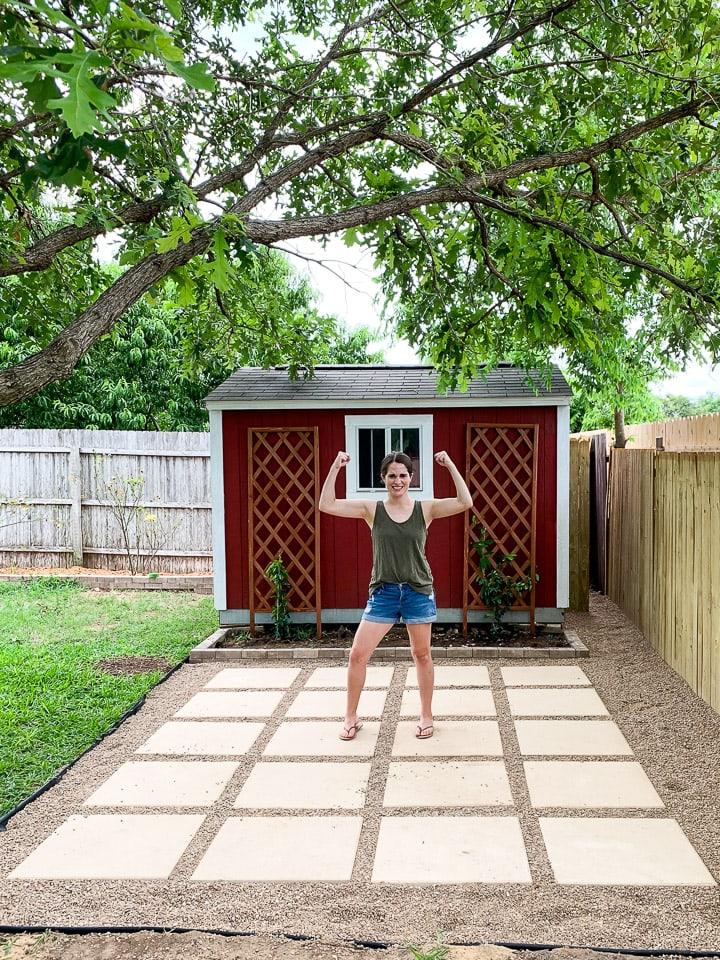 diy paver pea gravel patio love