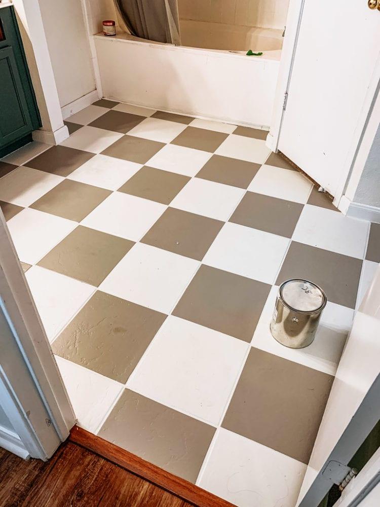 painted our bathroom floor