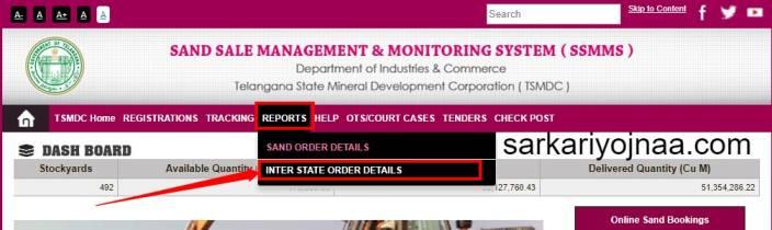 Inter State Sand Order Details