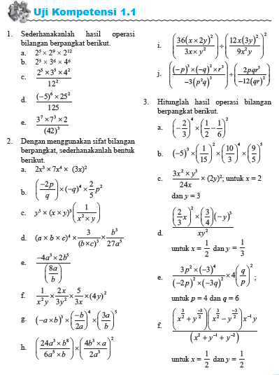 Contoh Soal Eksponen Kelas 10 Dan Pembahasannya : contoh, eksponen, kelas, pembahasannya, Pembahasan, Kompetensi, Eksponen, Matematika, Wajib, Kurikulum, Defantri.com
