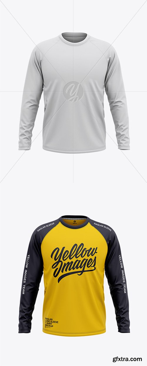 Download Mockup Raglan Cdr Yellow Images