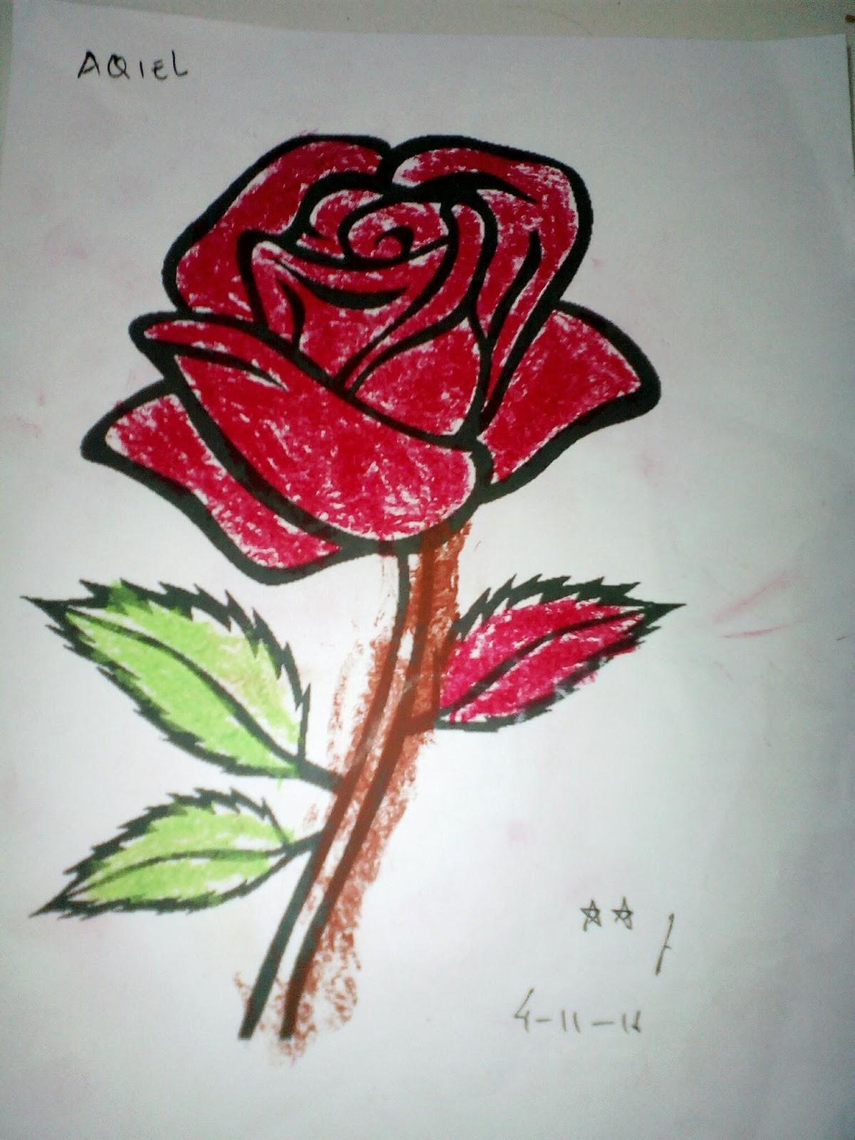 Menggambar Bunga Mawar : menggambar, bunga, mawar, Contoh, Gambar, Kolase, Bunga, Mawar, Lengkap, Kumpulan, Wallpaper