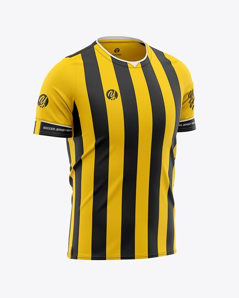 Download Download Mens V-Neck Football Jersey Mockup Half-Side View ...