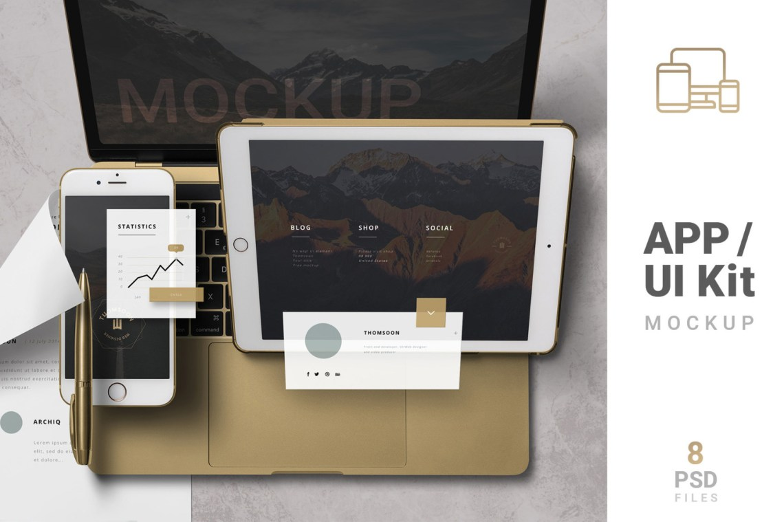 Download Mobile App Mockup Creator Yellowimages