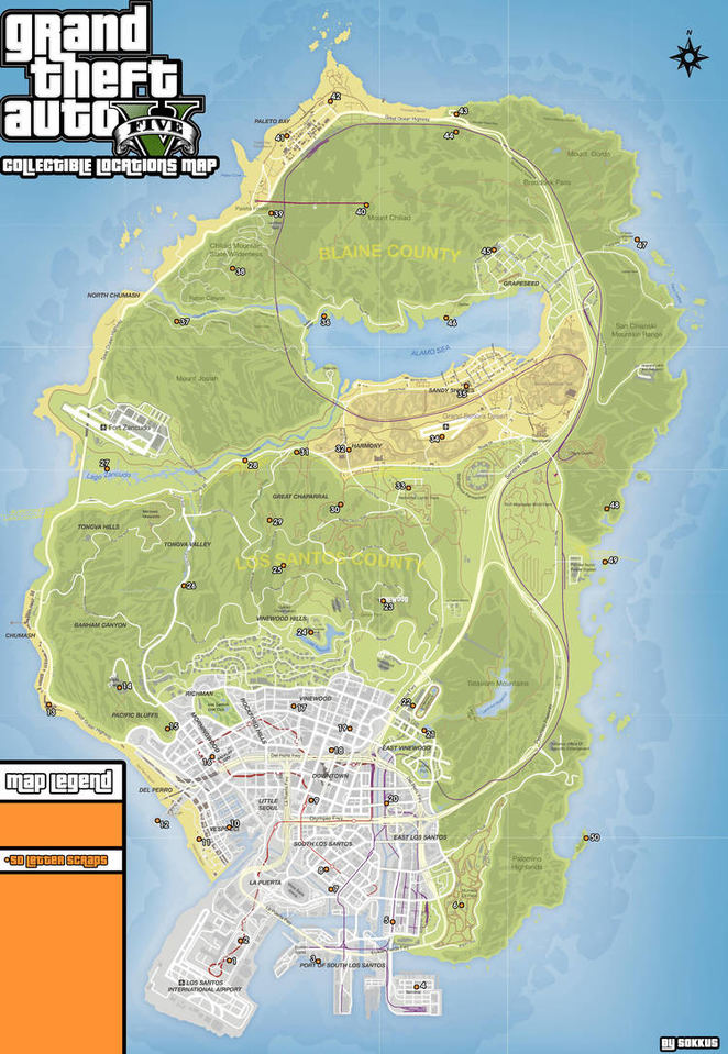 Gta V Letter Scraps Map : letter, scraps, Collectible, Locations, Guide, Grand, Theft, Neoseeker
