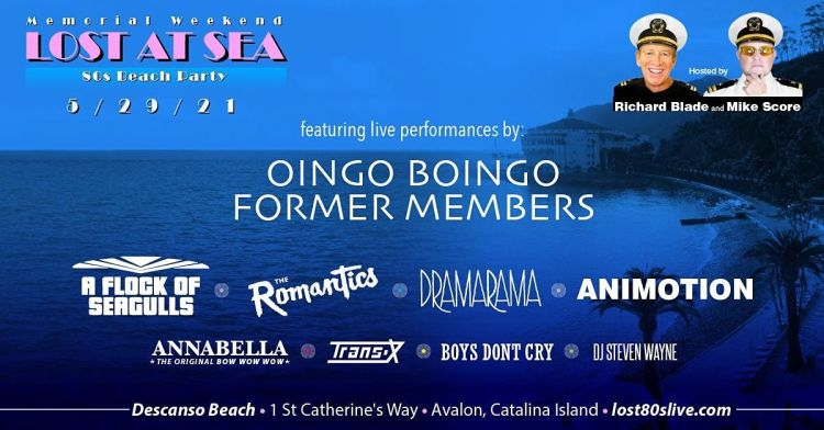 Lost at Sea 80s Beach Party on Catalina Island, Descanso Beach Club,  Avalon, 29 May 2021