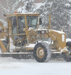 a road grader clears snow from a street in west steamboat springs on wednesday  [ 1240 x 800 Pixel ]