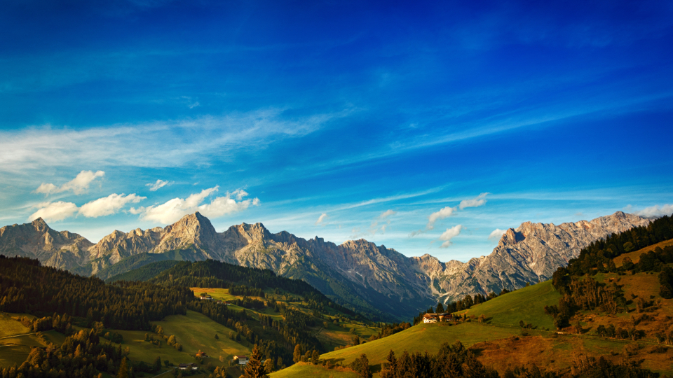 Scenic Fall Wallpaper Free Photo Of Mountain Landscape Blue Sky Stocksnap Io